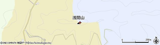 浅間山周辺の地図