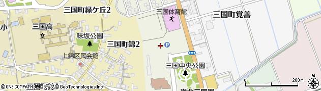 福井県坂井市三国町中央周辺の地図