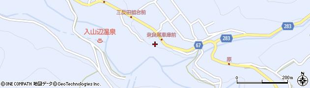 長野県松本市入山辺(奈良尾)周辺の地図