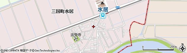 福井県坂井市三国町水居周辺の地図