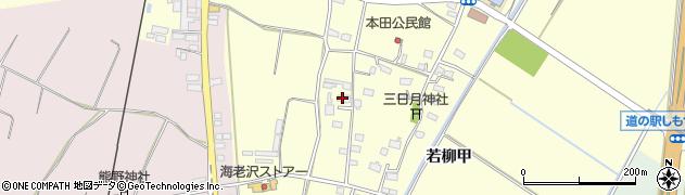 茨城県下妻市若柳(甲)周辺の地図