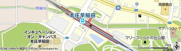 埼玉県本庄市周辺の地図