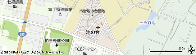 茨城県石岡市池の台周辺の地図