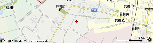 茨城県下妻市神明周辺の地図
