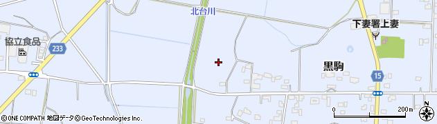 茨城県下妻市黒駒周辺の地図