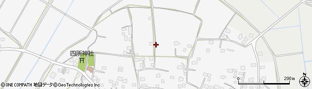 茨城県筑西市中上野周辺の地図