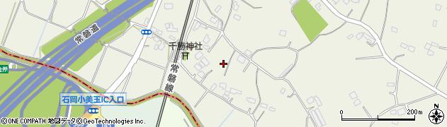 茨城県小美玉市大谷周辺の地図