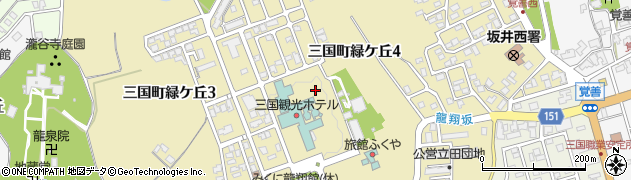 福井県坂井市三国町緑ケ丘周辺の地図