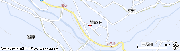 長野県松本市入山辺(竹の下)周辺の地図