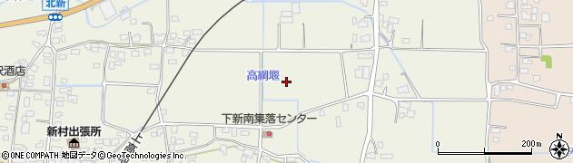 長野県松本市新村(下新南)周辺の地図