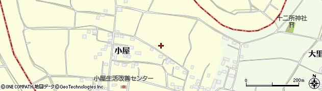 茨城県八千代町(結城郡)小屋周辺の地図
