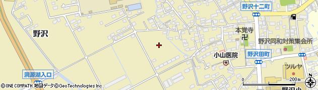 長野県佐久市野沢周辺の地図