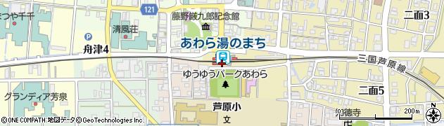 福井県あわら市周辺の地図