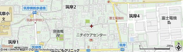 長野県松本市筑摩周辺の地図