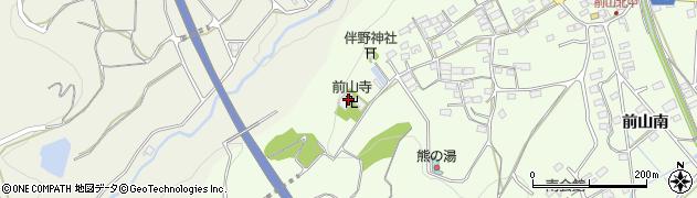 前山寺周辺の地図