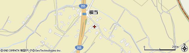 茨城県石岡市根当周辺の地図