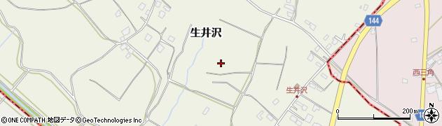 茨城県茨城町(東茨城郡)生井沢周辺の地図