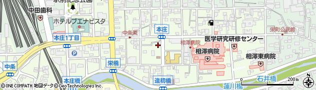 長野県松本市本庄周辺の地図