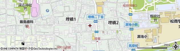 長野県松本市埋橋周辺の地図
