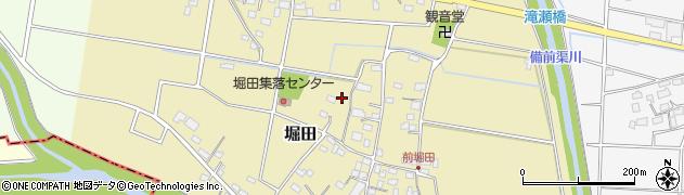 埼玉県本庄市堀田周辺の地図