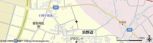茨城県結城市浜野辺周辺の地図