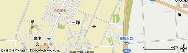 長野県佐久市三塚周辺の地図