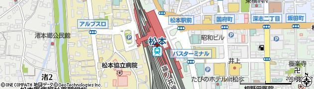 長野県松本市周辺の地図