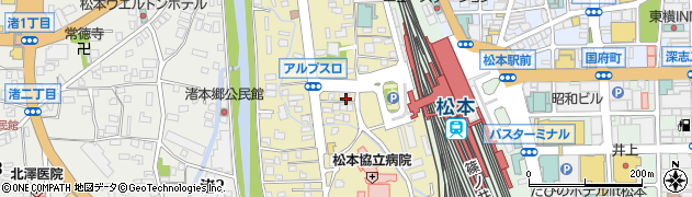 長野県松本市巾上周辺の地図