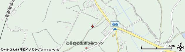 茨城県鉾田市造谷周辺の地図