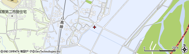 群馬県藤岡市根岸周辺の地図