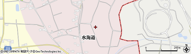 茨城県結城市水海道周辺の地図