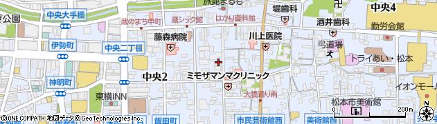 長野県松本市中央周辺の地図