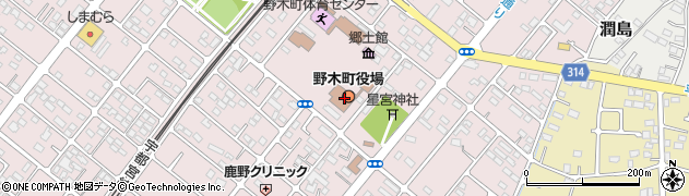 栃木県下都賀郡野木町周辺の地図