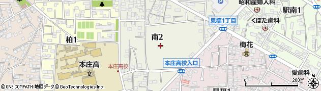 埼玉県本庄市南周辺の地図