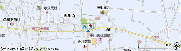 兎川霊瑞寺周辺の地図