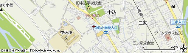 長野県佐久市中込(三石)周辺の地図