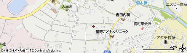 群馬県館林市楠町周辺の地図