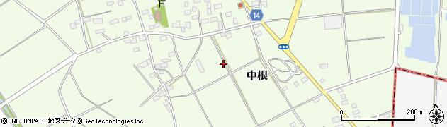 茨城県筑西市中根周辺の地図
