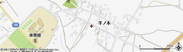 茨城県石岡市半ノ木周辺の地図