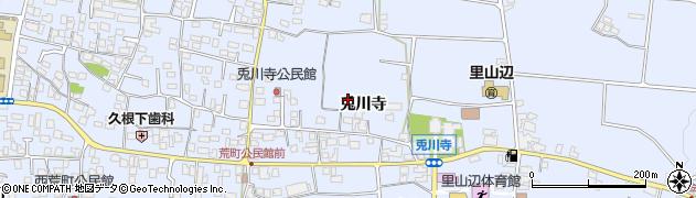長野県松本市里山辺(兎川寺)周辺の地図