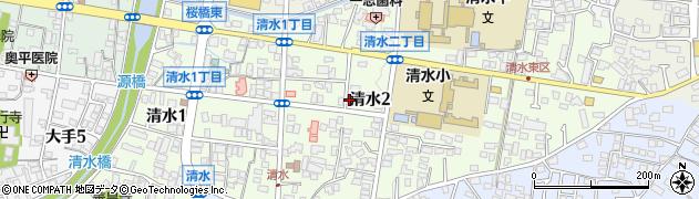 長野県松本市清水周辺の地図
