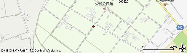 茨城県石岡市栄松周辺の地図