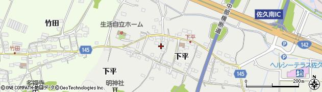 長野県佐久市伴野(下平)周辺の地図