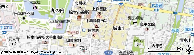 中嶋歯科医院周辺の地図