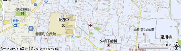 長野県松本市里山辺(荒町)周辺の地図