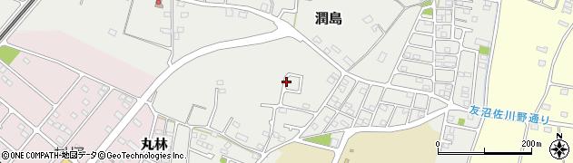 栃木県下都賀郡野木町潤島周辺の地図
