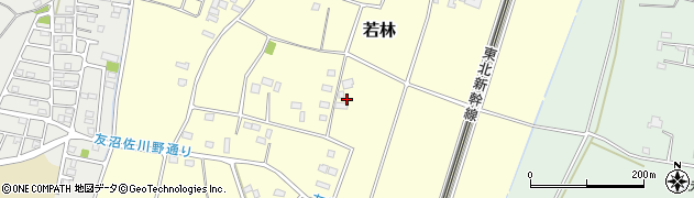 栃木県野木町(下都賀郡)若林周辺の地図