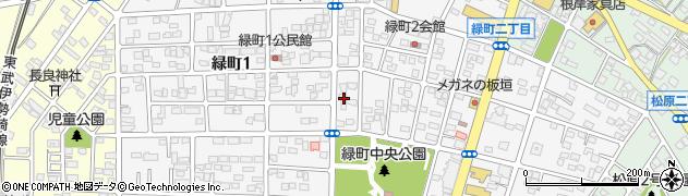 群馬県館林市緑町周辺の地図