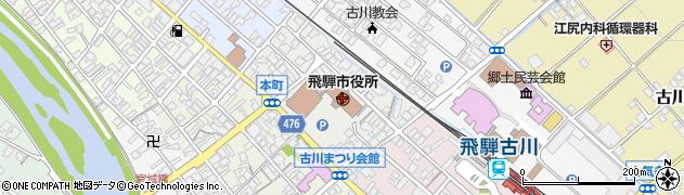 岐阜県飛騨市周辺の地図
