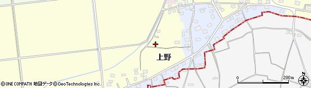 茨城県筑西市上野周辺の地図